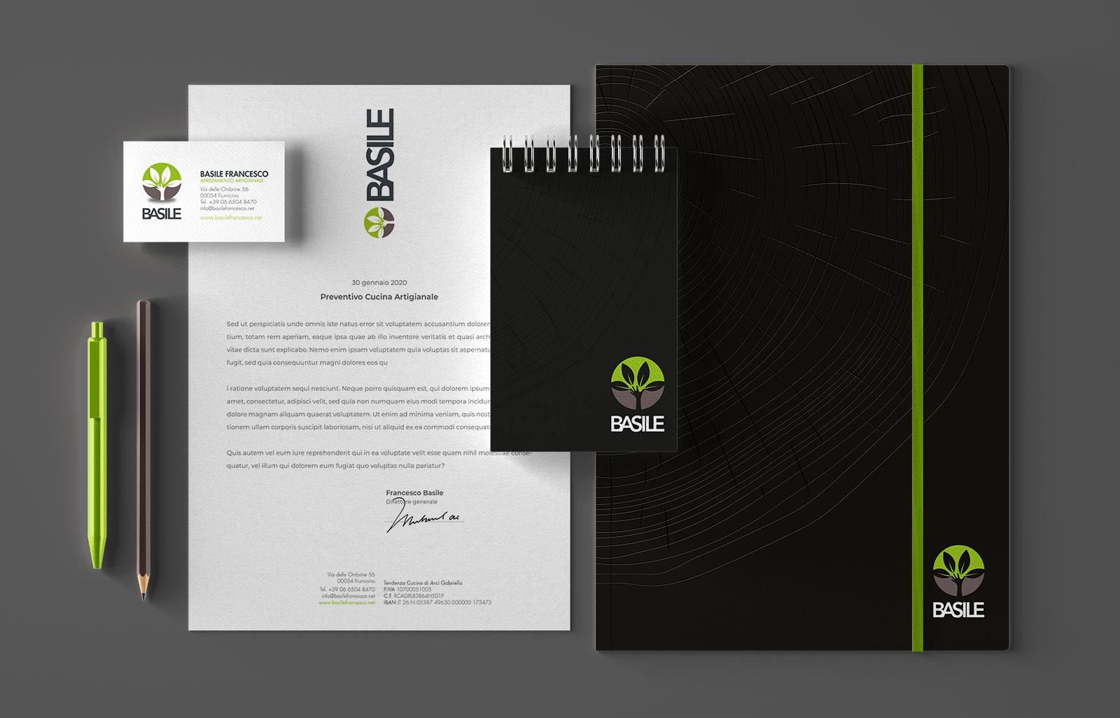 corporate identity basile cucine Diego Favaretto Web designer