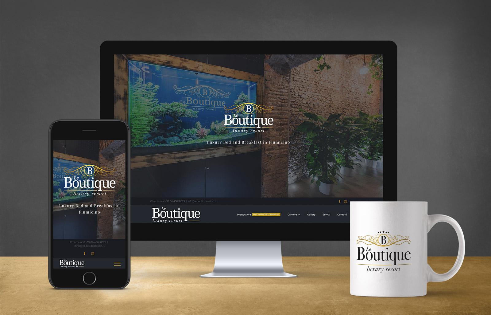 website bed and breakfast le boutique luxury resort Diego Favaretto Web designer