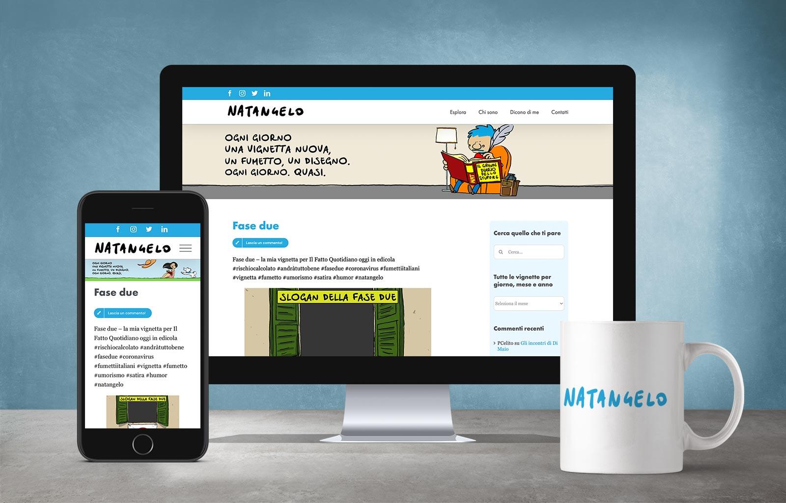 Natangelo sito web restyling Diego Favaretto Web designer